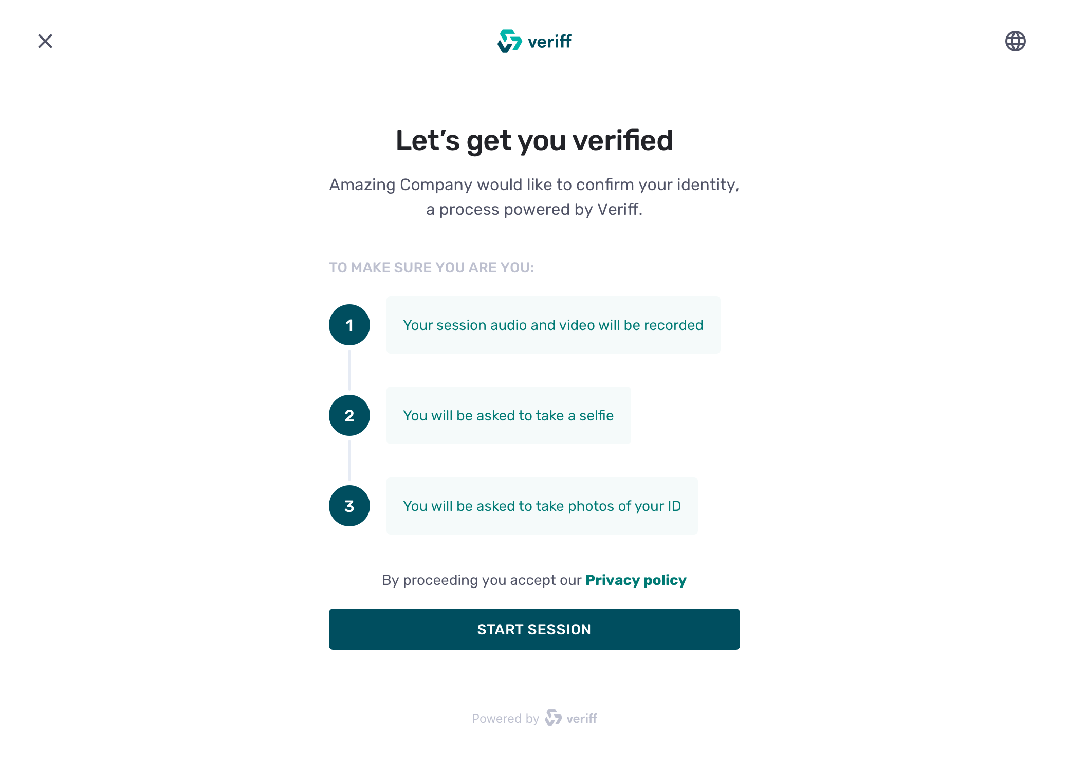 Veriff's new identity verification platform for web users